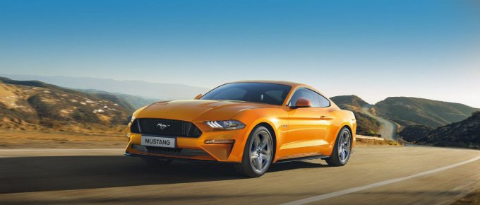 ford mustang 2019 pomarańczowy